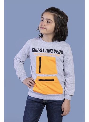 Toontoy Kids Toontoy Erkek Çocuk Baskılı Neon Cepli Sweatshirt Renkli